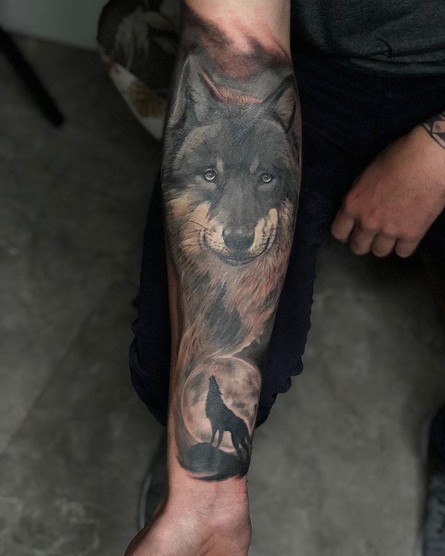 Mais uma obra concluída, tatuagem custom
