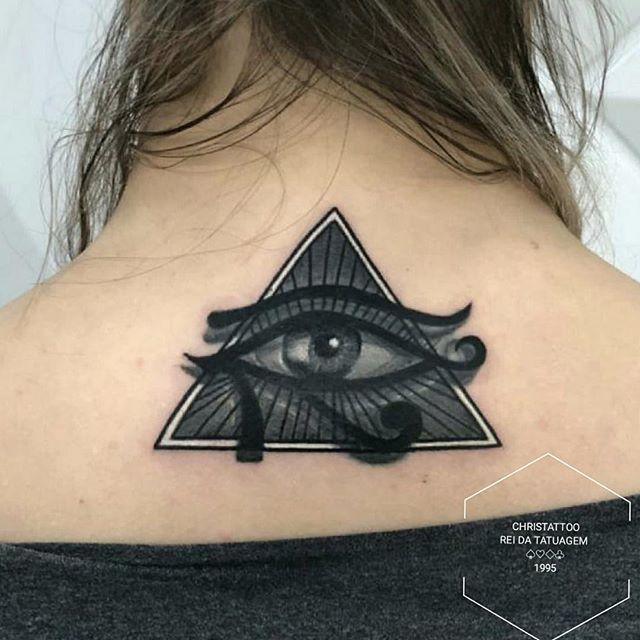 Olho de Horus #eyeofhorus #blackandgreyt
