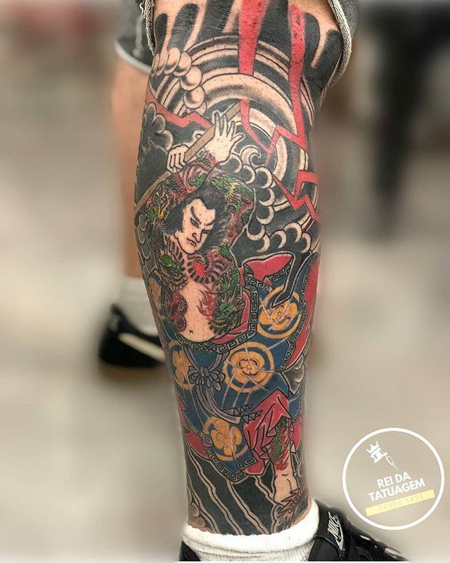 . . . #samurai#orientaltattoo #tattoo#ta