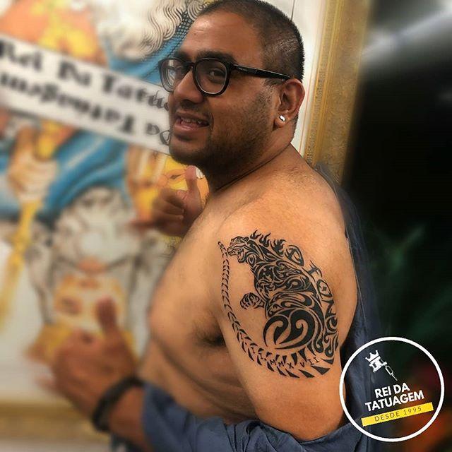 A tatuagem do tigre pode ser feita em vá