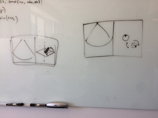 Low-fi whiteboard sketches