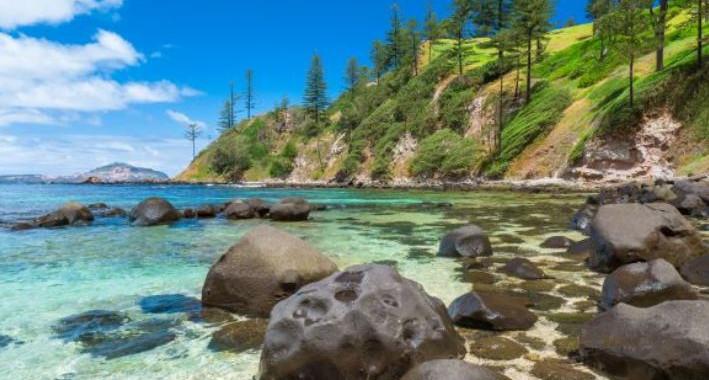 Pristine coastlines