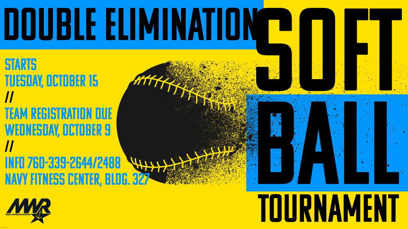 Softball Tournament Digital TV Slide