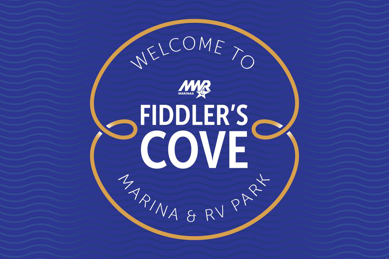 Fiddler's Cove Main Gate Sign