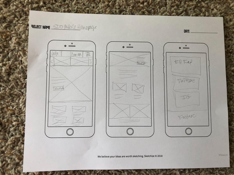 SDO Mobile Sketches
