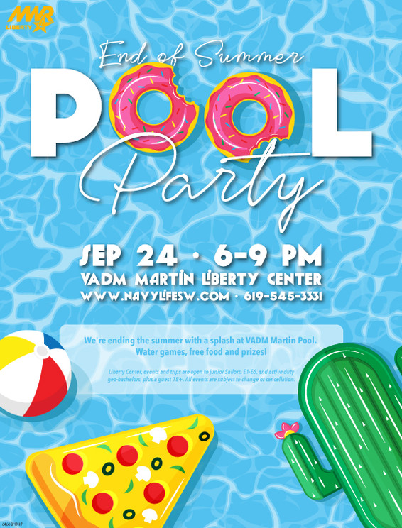 Liberty Pool Party 11x17 Poster