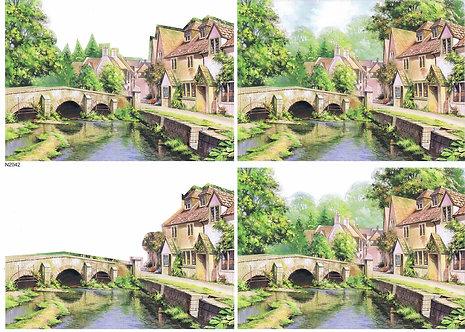 Countryside Decoupage - The Bridge Decoupage Sheet