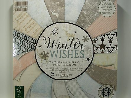"First Edition - Winter Wishes 8"" x 8"" Paper Pad"