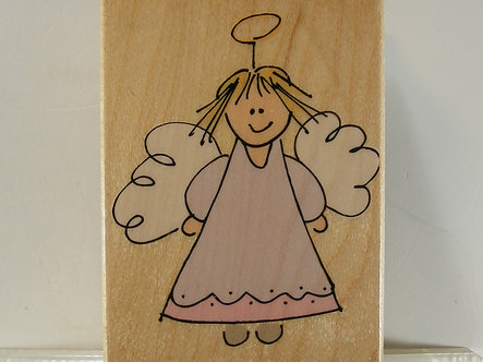 Hero Arts - Silly Angel Rubber Stamp