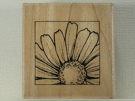 Hobby Art - Daisy Small Parts Rubber Stamp