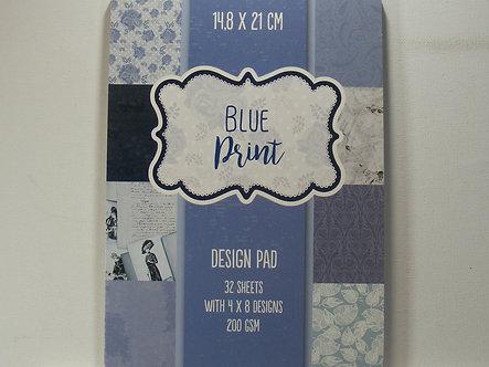 Blue Print Backing Paper Design Pad.
