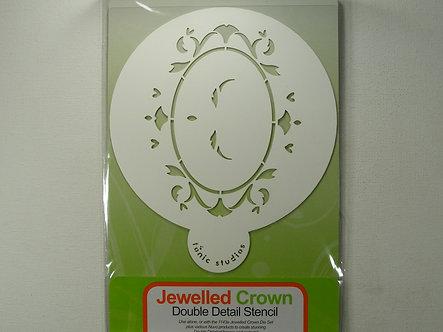 Tonic Studios - Jewelled Crown Double Detail Stencil