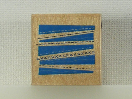 Docrafts - Whispers Rubber Stamp - Retro Zip Pattern