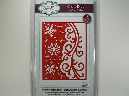 Creative Expressions - Festive Collection - Snowflakes & Swirls Dies