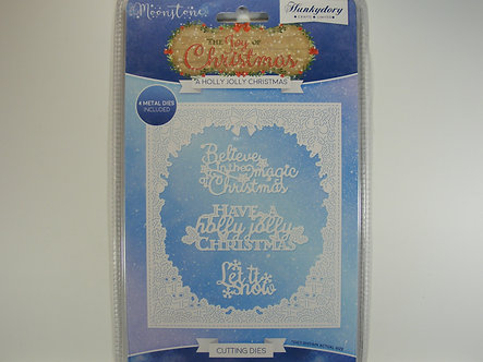Hunkydory - Moonstone - A Holly Jolly Christmas Die Set