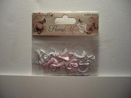 Dovecraft -  Floral Muse Mini Ribbon Bows.