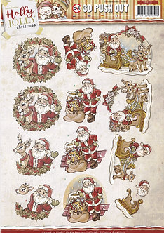 Yvonne Creations - Holly Jolly Christmas 3D Decoupage Sheet