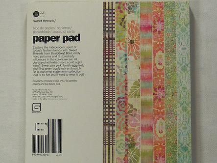 "Basic Grey - Sweet Threads 6"" x 6"" Paper Pad"