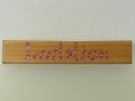 Docrafts - Forever Friends Invitation Sentiment Rubber Stamp