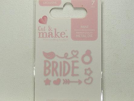 Cut & Make - Mini Wedding Dies - Bride