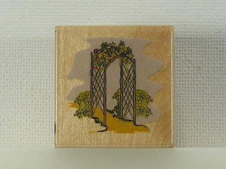 Docrafts - Whispers Rubber Stamp - Garden Archway