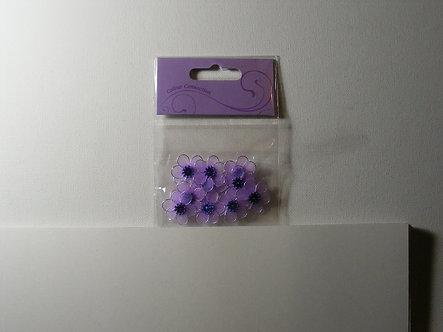 Craftime - Mesh Flowers (Purple).