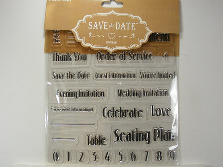 Stationary Stamps - Save The Date Stamp Set
