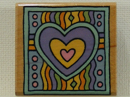 Hero Arts - Hearts On Heart Wood Mounted Rubber Stamp
