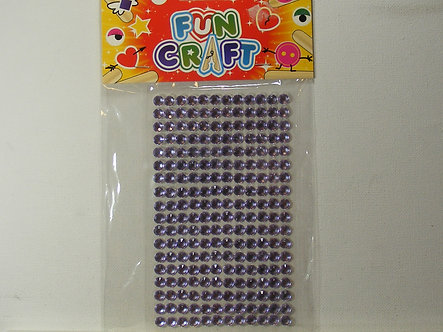 Fun Craft 7mm Faceted Lilac Adhesive Gems (216)