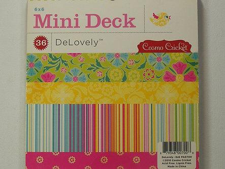 "Cosmo Cricket Mini Deck - DeLovely 6"" x 6"" Paper Pad"