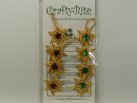 Crafty Bitz - Christmas Star Embellishments