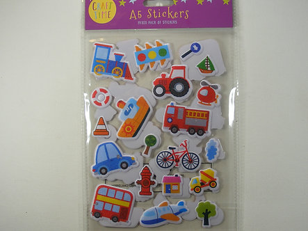 Craft Time - A5 Stickers Mixed Pack - Transport