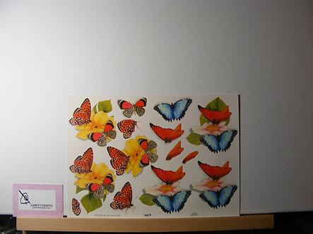 TBZ International - Butterflies Decoupage Sheet.