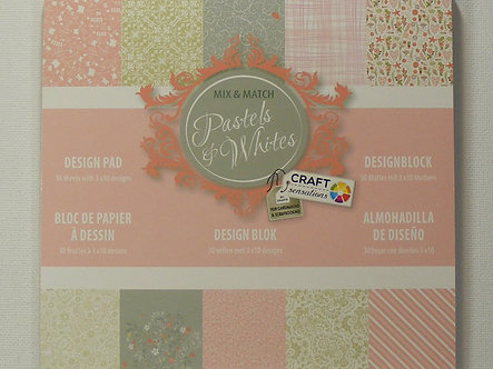 "Craft Sensations - Pastels & Whites 6"" x 6"" Paper Pad"