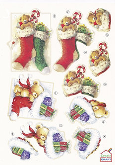 Create & Craft - A4 Christmas Decoupage Sheet