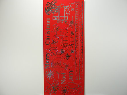 Christmas Peel Offs - Sentiments & Icons (Red)
