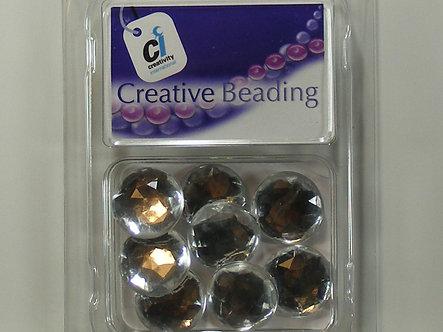 Creativity International - Clear Acrylic Jewels Round