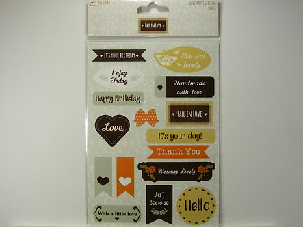 Love To Craft - Fall In Love Sentiment Stickers.
