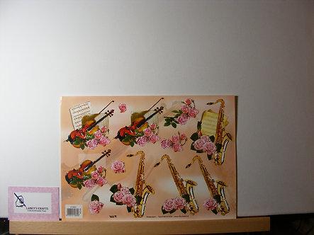 TBZ International - Violin & Saxophone Decoupage.