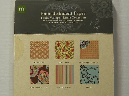 """Making Memories - Funky Vintage 6"""" x 6"""" Paper Pad"""