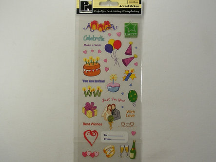 Papermania - Accent Stickers - Celebration.