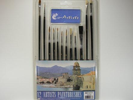 Chiltern Arts - Artists Paint Brushes (12pk)