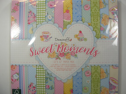 "Dovecraft - Sweet Moments 12"" x 12"" Paper Pack"