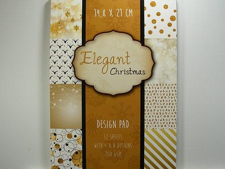 Elegant Christmas Design Paper Pad