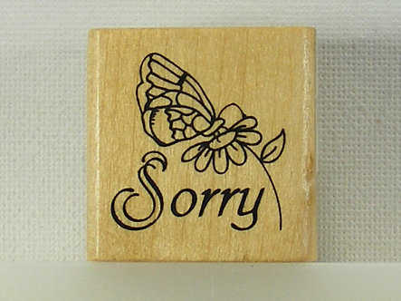 Anita's - Sorry Wood Mounted Rubber Stamp