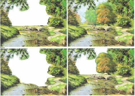 Countryside Decoupage - The River Decoupage Sheet