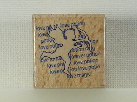 Docrafts - Whispers Rubber Stamp - Cupid & Sentiment
