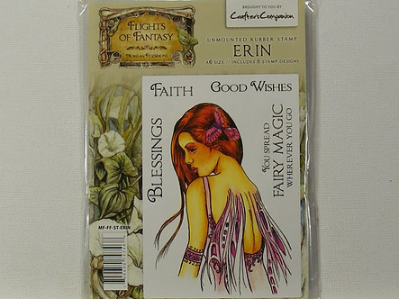 Crafters Companion - Flights Of Fantasy Erin Rubber Stamp