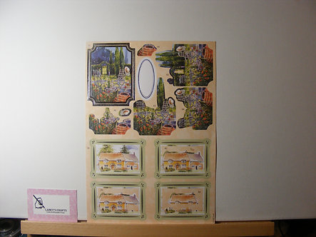 HMK Cards - County Cottage & Garden Decoupage Sheet.