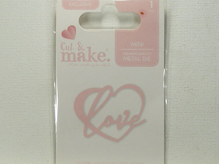 Cut & Make - Mini Wedding Dies - Love Heart